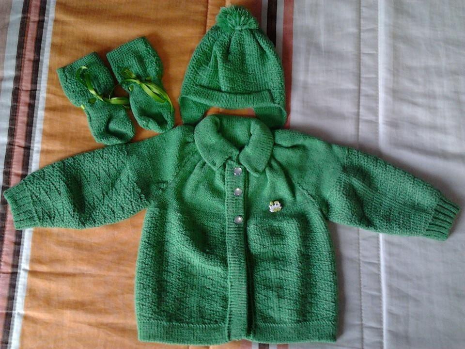 casaquinho de bebe - Roupas de tricô para bebês