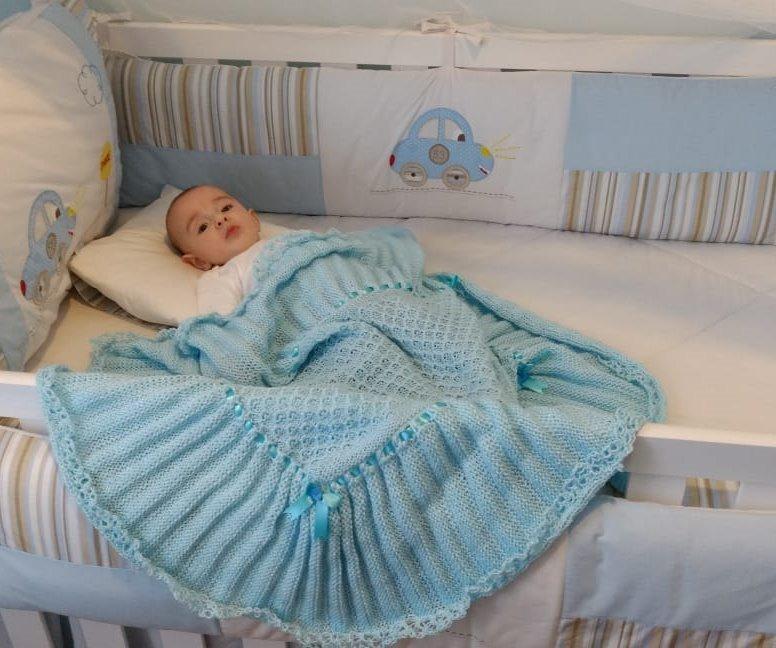 manta de trico - Roupas de tricô para bebês