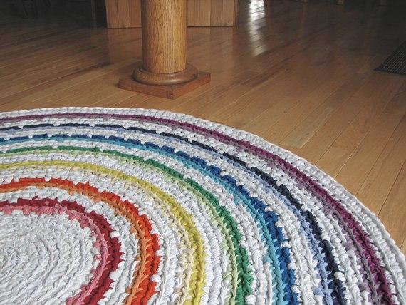 tapate redondo colorido - 5 Ideias para tapetes