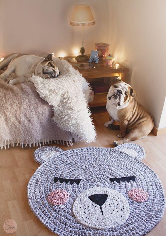 tapete croche ursinho - 5 Ideias para tapetes