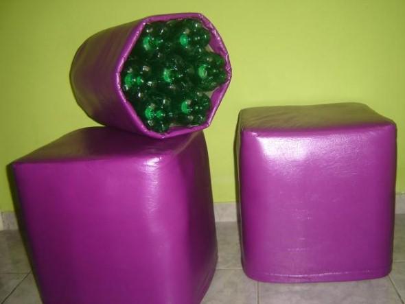 Puff artesanal - Ideias de pufes artesanais