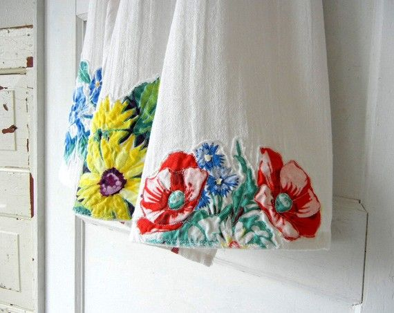 pano de prato com tecido chia - 5 ideias de artesanato com tecido chita