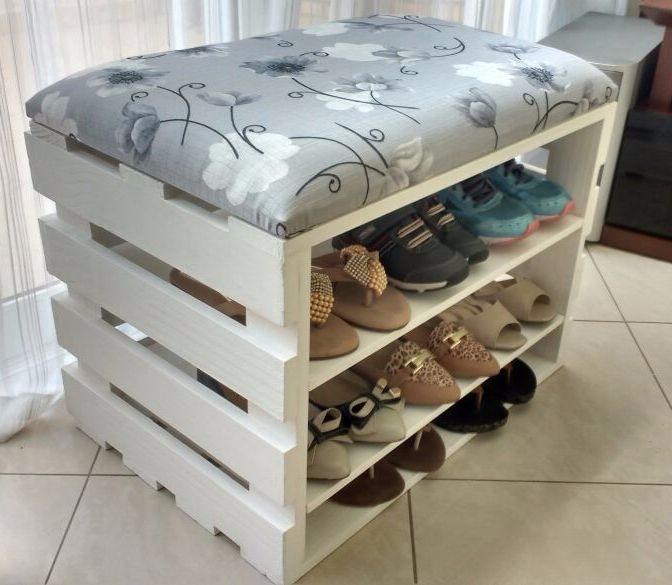puff artesanal de sapatos - Ideias de pufes artesanais