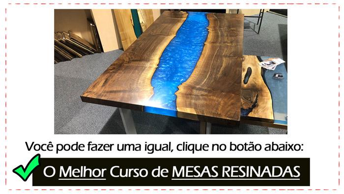 banner mesa resinada - 4 ideias de artesanato em madeira