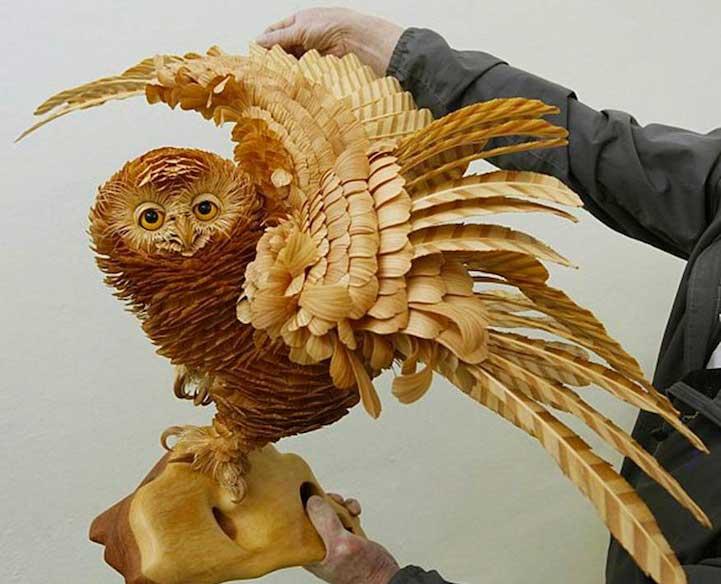 escultura de madeira - 4 ideias de artesanato em madeira