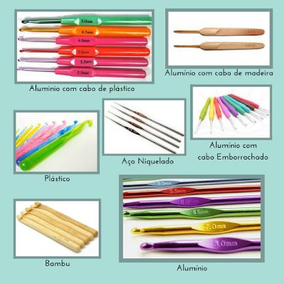 Tipos de Agulhas de crochê - Tipos de Agulhas de Crochê