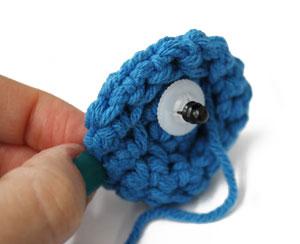 amigurumi5 - Como colocar olhos com trava - Amigurumi Crochê