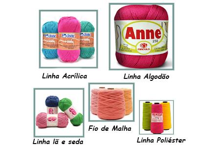 tipo de linhas de croche - Quais os tipos de linhas de crochê?