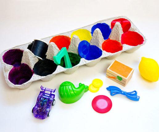 caixa coloridas 516x430 - Artesanato com Caixa de Ovo: Ideias com Passo a Passo