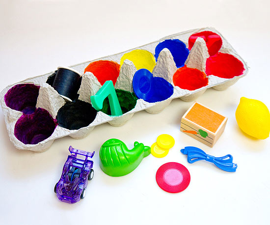 caixa coloridas - Artesanato com Caixa de Ovo: Ideias com Passo a Passo