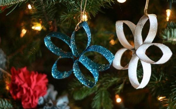 Passo a Passo Enfeite de Natal com rolinho de papel - Passo a Passo: Enfeite de Natal com rolinho de papel