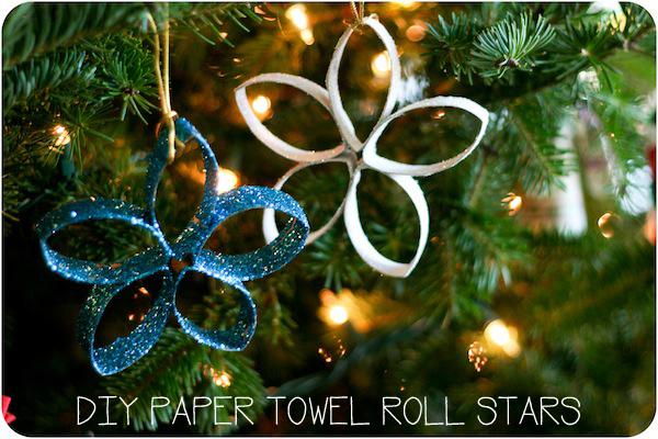 enfeite de natal com rolo de papel higienico - Decoração de natal: enfeites para fazer em casa