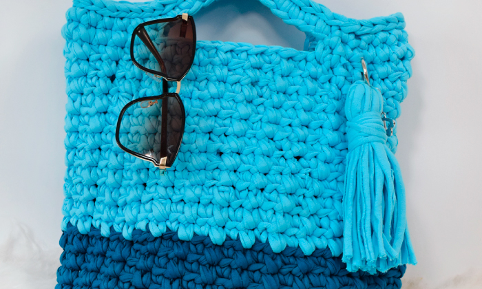 BOLSA DE CROCHÊ CÉU AZUL - Receita Bolsa de crochê céu azul