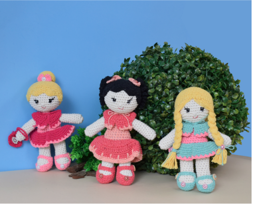 Amigurumania Total : Princesas da Disney: Branca de Neve - Amigurumi | 416x512