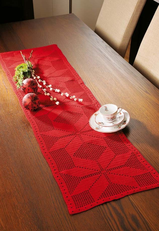 croche 2 - Trilhos de mesa de crochê