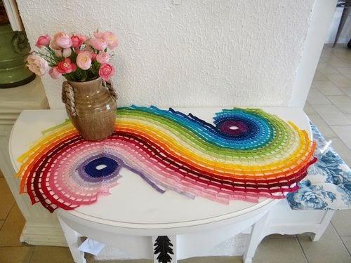 trilh de croche - Trilhos de mesa de crochê