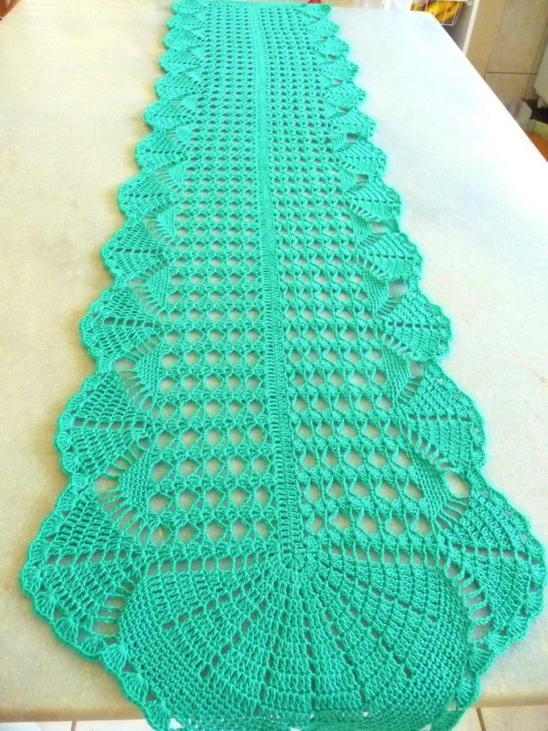unico caminho de mesa em croche ponto g gardino artes de mesa de croche 768x1024 - Trilhos de mesa de crochê